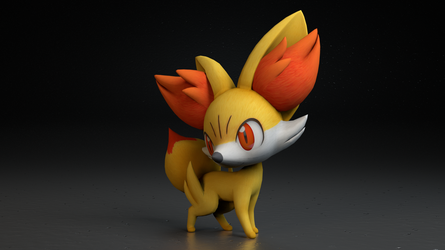 #653. Fennekin by TheAdorableOshawott