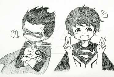 [DC Comics] Super Sons - Robin and Superboy by OceanicTuna1027