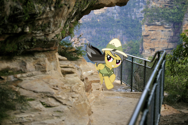 Tearin' down the Cliff Walk by Didgereethebrony