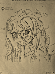 ~Ignis HeadShot Sketch~ (MauiCatgirl Commission) by bumblebeegirl15