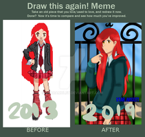 OC- Zoey Before and After by StarAmulet