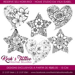 Floral delicated tattoo designs Avaiable by hakesh-chan