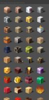 Material Cubes by RRibot