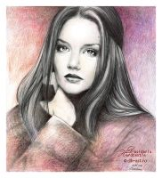 Katie Holmes drawing by dasidaria-art
