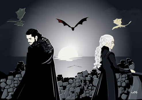 Daenerys and Jon by FeydRautha81