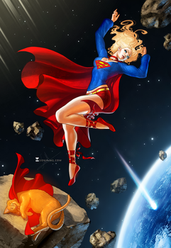 Commission Ted - Supergirl by SoniaMatas