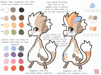 Bagbean basic color chart for Identity trials by griffsnuff