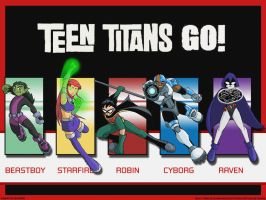TT- Teen Titans Go :Wallpaper: by chaneljay