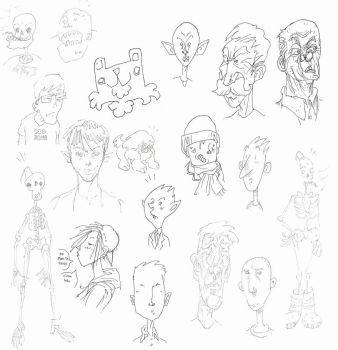 Sketches by The-Mirrorball-Man