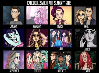 Art of 2016! by katidoodlesmuch