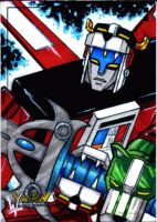 Voltron sketch card 2 by eltoromuerto