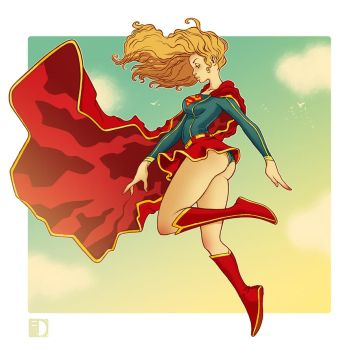Supergirl fan art by spundman