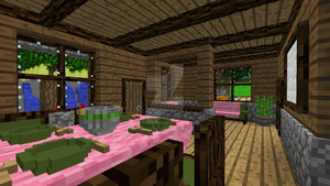 Minecraft - Dining and living room by Timidouveg