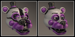 Funtime Freddy Head OPENED AND CLOSED My design by Qutiix