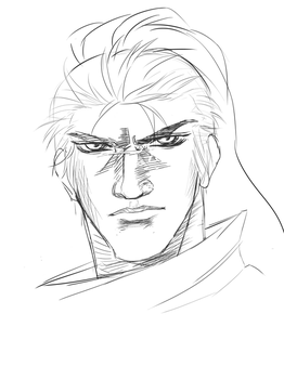 League of Legends-Yasuo Lineart by CameronWasTaken
