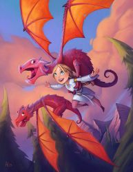 Flying with Dragons by Alexi-C