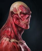 Face without skin by Manzanedo