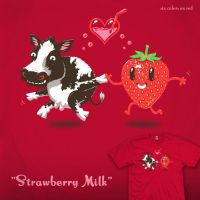 Strawberry Milk tee by InfinityWave