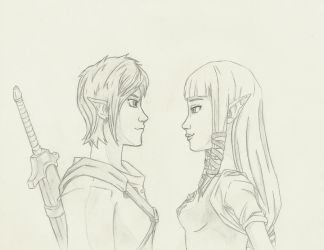 Link and Zelda by THEGODSLAYER91