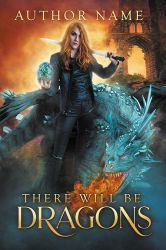 There Will Be Dragons - premade book cover - SOLD by LHarper