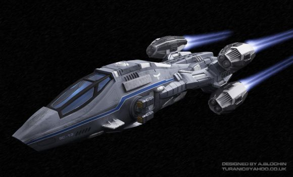 Space Corvette by TuranicRaider