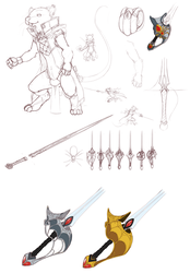 Hywel character design part 1 by ClockworkShrew