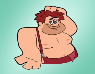 Shirtless Ralph by Cookie-Lovey