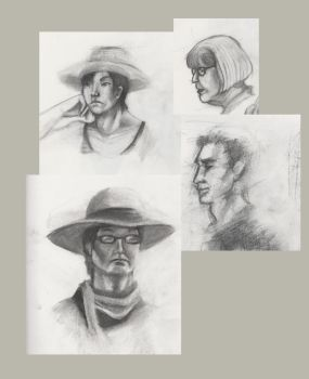 Portraits from Figure Drawing by Alkaline-Lady