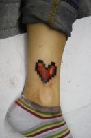 Pixel heart by SimplyTattoo