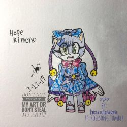 Hope in Kimono  by knockoutandsonic