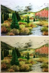 A Forest Fantasy - Colored Pencil Long Draw. by JCoolArts