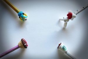 Pencil Toppers by Shiritsu