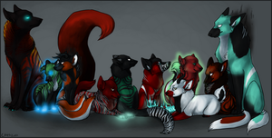 The WHOLE brood by paradoxmachine