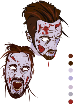 My zombie Face by chiquitoooh