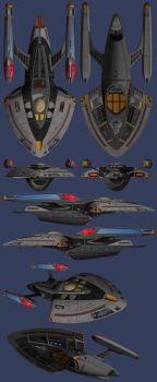 USS James Burke Orthographics by WideFoot