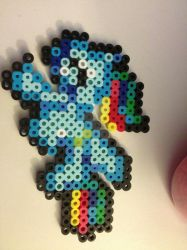 Perler (test chibi) pony flying by darkligress