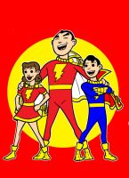 marvel family color by AlanSchell