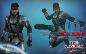 Super Smash Bros. Brawl - Solid Snake by XNASyndicate
