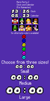 Mario Party 2 Clock and Calendar (For Rainmeter) by TheWolfBunny