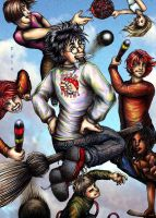 Harry and the Quidditch Team by princefala