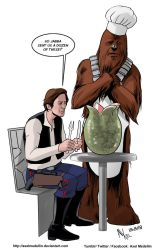 TLIID 393. Han, Chewie and Alien by AxelMedellin