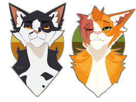 Swiftpaw and Brightheart by SpizzleBoBizzle