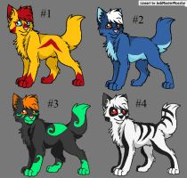 5 Point Adoptables CLOSED by IndigoCascade