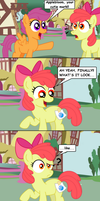 Applebloom gets her cutie mark by AleximusPrime