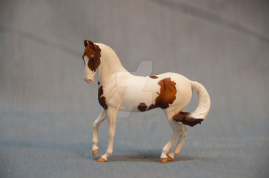 COMMISSION: Rose Mini Marwari Resin Chestnut Pinto by Izzadorable