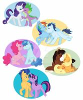 (Almost) Mane 6 Ships by WhisperSeas
