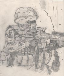 soldier by foxtroter13