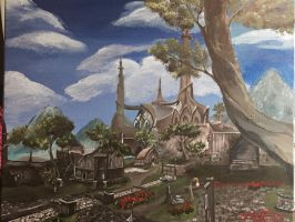 Temple of the Three at Mournhold by kdrmickey