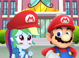 rainbow dash is a fan of MARIO by DANIOTHEMAN