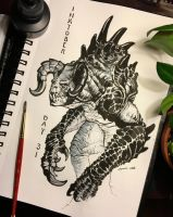 An Inktober Deathclaw by ConejoBlanco